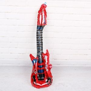 Red Guitar Foil Balloon, Kid's Party Decor 🌸